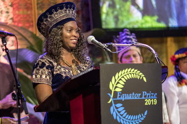 <strong>Sevidzem Ernestine</strong>, Equator Prize winner representative from Cameroon Gender and Environment Watch