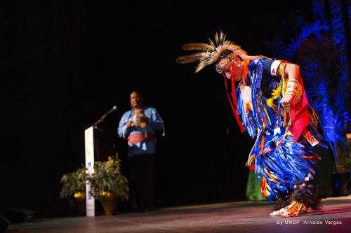 Native American Traditional Singer <strong>John Scott-Richardson</strong> and Native American Grass Dancer <strong>Sheldon Raymore</strong>
